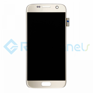 For Samsung Galaxy S7 LCD Screen and Digitizer Assembly Replacement - Gold - Grade S+