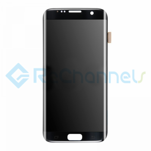 For Samsung Galaxy S7 Edge LCD and Digitizer Assembly Replacement - Black - Grade S+