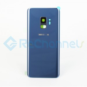 For Samsung Galaxy S9 SM-G960 Battery Door With Adhesive Replacement - Coral Blue - Grade S+