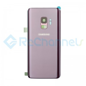 For Samsung Galaxy S9 SM-G960 Battery Door With Adhesive Replacement - Lilac Purple - Grade S+