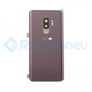 For Samsung Galaxy S9 Plus SM-G965 Battery Door With Adhesive Replacement - Lilac Purple - Grade S+