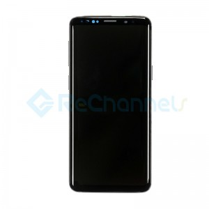 For Samsung Galaxy S9 SM-G960 LCD Screen and Digitizer Assembly with Front Housing Replacement - Midnight Black - Grade S+