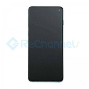 For Samsung Galaxy S10 LCD Screen and Digitizer Assembly with Front Housing Replacement - Black - Grade S+