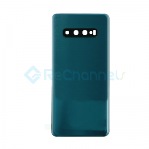 For Samsung Galaxy S10+ G975F Battery Door Replacement - Prism Green - Grade R