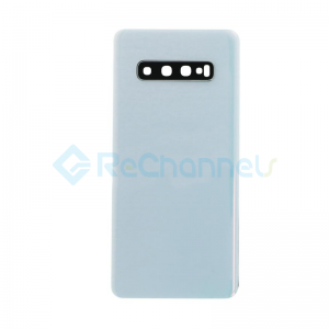 For Samsung Galaxy S10+ SM-G975 Battery Door Replacement - Prisme White - Grade R