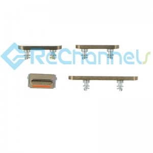 For iPhone 12 Pro/12 Pro Max Side Buttons Replacement-Gold-Grade S+