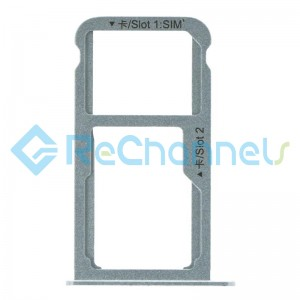 For Huawei Nova SIM Card Tray Replacement  - Silver - Grade S+
