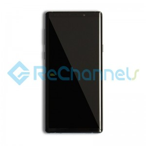 For Samsung Galaxy Note 9 LCD Screen and Digitizer Assembly with Front Housing Replacement - Black- Grade S+