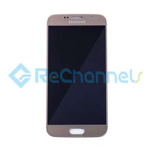 For Samsung Galaxy S6 LCD Screen and Digitizer Assembly Replacement - Gold - Grade S