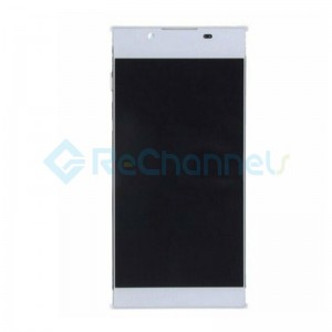 For Sony Xperia L1 LCD Screen and Digitizer Assembly Replacement  with Front Housing - White -  Grade S