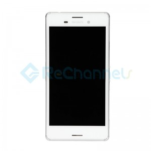 For Sony Xperia M4 Aqua LCD Screen and Digitizer Assembly with Front Housing Replacement - White -  Grade S