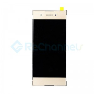 For Sony Xperia XA1 LCD Screen and Digitizer Assembly with Front Housing Replacement - Gold - Grade S+