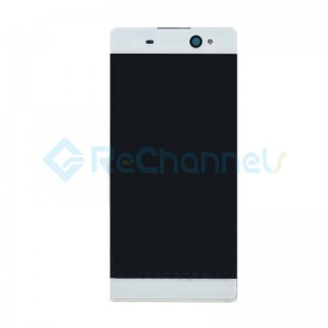 For Sony Xperia XA Ultra LCD Screen and Digitizer Assembly with Front Housing Replacement - White - Grade S+