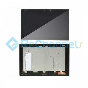For Sony Xperia Z2 Tablet Model SGP511 / SGP512 / SPG521 LCD Screen and Digitizer Assembly Replacement - Black - Grade S+