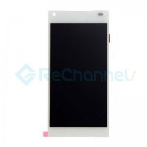 For Sony Xperia Z5 Compact LCD Screen and Digitizer Assembly Replacement - White - With Logo - Grade S+