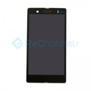 For Sony Xperia Z L36h LCD Screen and Digitizer Assembly with Front Housing Replacement - White -  Grade S