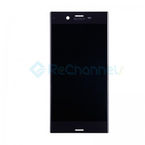 For Sony Xperia XZ LCD Screen and Digitizer Assembly Replacement - Black - Grade S