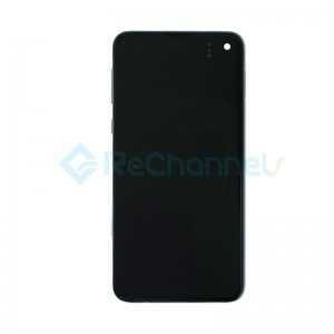 For Samsung Galaxy S10E LCD Screen and Digitizer Assembly with Front  Housing Replacement - Black - Grade S+
