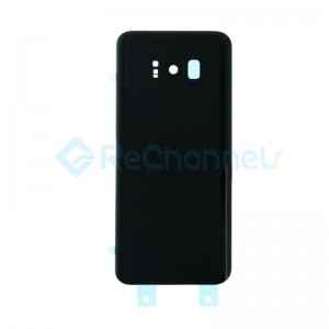 For Sumsung Galaxy S8 Plus G955F Battery Door Cover Replacement - Midnight Black - Grade S+