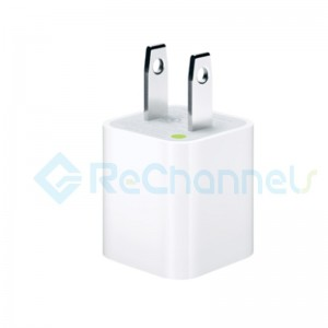 USB Power Adapter for iPhone & iPad - White - US Version
