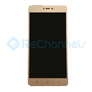For Xiaomi Mi 4S LCD Screen and Digitizer Assembly with Front Housing Replacement - Gold - Grade S
