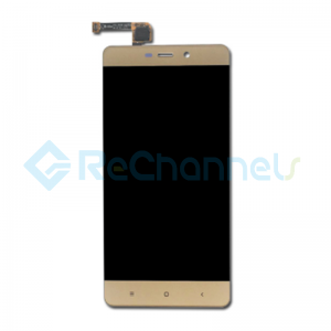 For Xiaomi Redmi 4 Pro LCD Screen and Digitizer Assembly with Front Housing Replacement - Gold - Grade S
