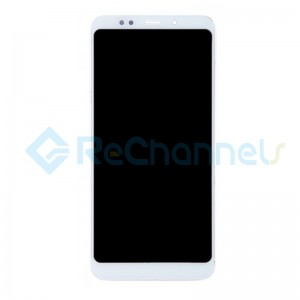 For Xiaomi Redmi 5 Plus LCD Screen and Digitizer Assembly with Front Housing Replacement - White - Grade S