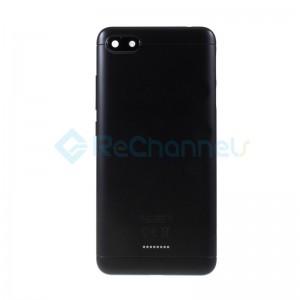 For Xiaomi Redmi 6A Battery Door Replacement - Black - Grade S+