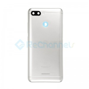 For Xiaomi Redmi 6 Rear Housing Replacement - Silver - Grade S+