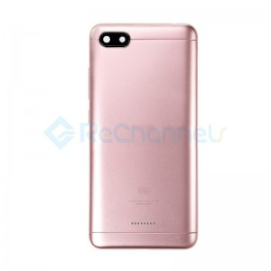 For Xiaomi Redmi 6A Rear Housing Replacement - Pink - Grade S+