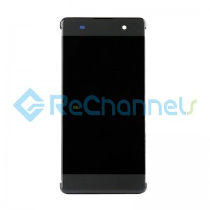 For Sony Xperia XA LCD Screen and Digitizer Assembly with Frame Replacement - Black - Grade S+