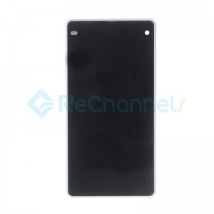 For Sony Xperia Z1 Compact LCD Screen and Digitizer Assembly with Front Housing Replacement - White - Sony Logo - Grade S+