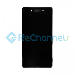 For Sony Xperia Z3+ LCD Screen and Digitizer Assembly with Front Housing Replacement - Black - Grade S+