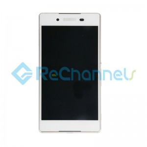 For Sony Xperia Z3+ LCD Screen and Digitizer Assembly with Front Housing Replacement - White - Grade S+