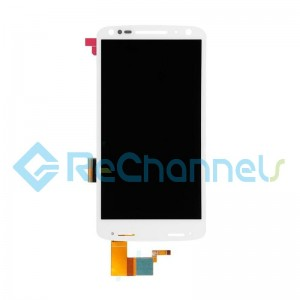 For Motorola Droid Turbo 2 XT1585 LCD Screen and Digitizer Assembly Replacement - White - Grade S+