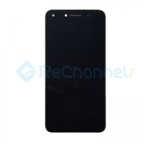 For Huawei Y6 II Compact LCD Screen and Digitizer Assembly with Front Housing Replacement - Black - Grade S