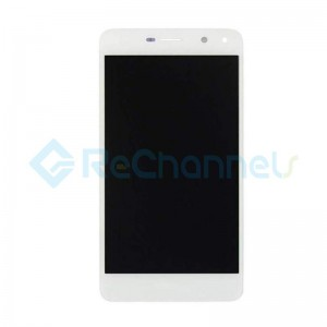 For Huawei Y6 2017 LCD Screen and Digitizer Assembly with Front Housing Replacement - White - Grade S+