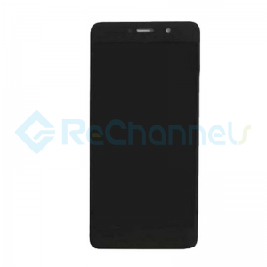 For Huawei Y7 2017 LCD Screen and Digitizer Assembly Replacement - Black - With Logo - Grade S+