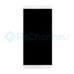 For Huawei Y7 Prime 2018 LCD Screen and Digitizer Assembly Replacement - White - With Logo - Grade S+
