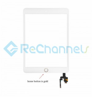 For Apple iPad Mini 3 Digitizer Touch Screen Assembly with IC Board Replacement - Gold - Grade R