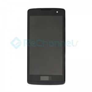 For LG Leon 4G LTE H340N LCD Screen and Digitizer Assembly With Front Housing Replacement - Black - Grade S+
