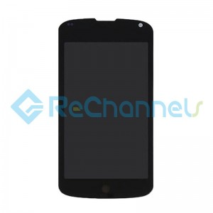 For LG Nexus 4 LCD Screen and Digitizer Assembly Replacement - Black - Grade S