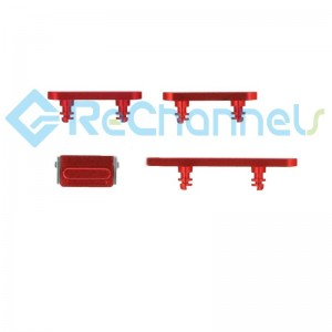 For iPhone 12/12 Mini Side Buttons Replacement-Red-Grade S+