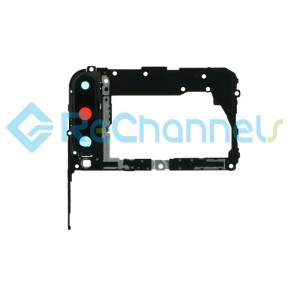 For Huawei P40 Lite E Motherboard Retaining Bracket with Camera Lens and Bezel Replacement - Black - Grade S+