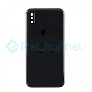 For Apple iPhone X Rear Housing with Battery Door Replacement - Space Gray - Grade S+