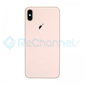 For Apple iPhone XS Rear Housing with Battery Door Replacement - Gold - Grade S+