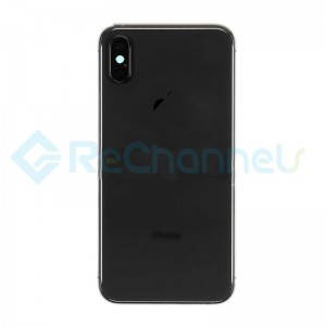 For Apple iPhone XS Rear Housing with Battery Door Replacement - Space Gray - Grade S+