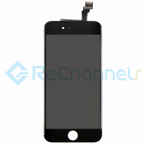 For Apple iPhone 6 LCD Screen and Digitizer Assembly Replacement  - Black - Grade R