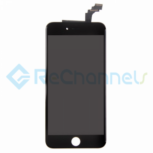 For Apple iPhone 6 Plus LCD Screen and Digitizer Assembly with Front Housing Replacement - Black - Grade R