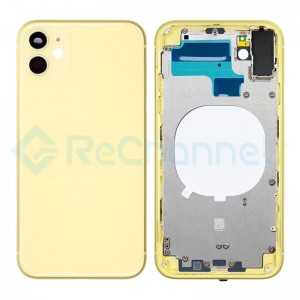 For Apple iPhone 11 Rear Housing with Battery Door Replacement - Yellow - Grade S+